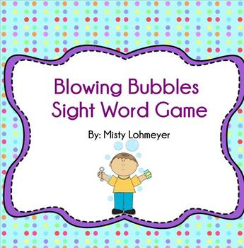 Blowing Bubbles Sight Word Game