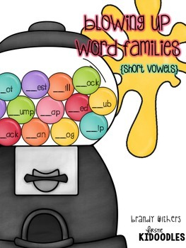 Short Vowels Gumball Word Families