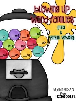 Gumball Word Families Bundle