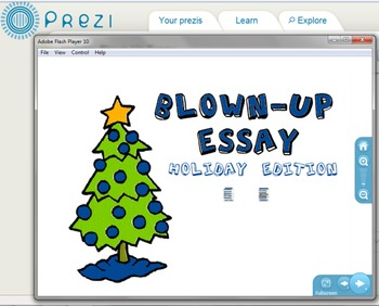Blown-Up Essay: Holiday Edition