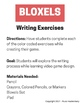 Bloxels - Writing Exercises (Adjectives, Verbs, Character Traits, etc.)