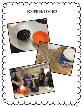 Blubber Experiment Directions and Recording Sheet