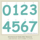 Birthday Number Candle Graphics Blue 2