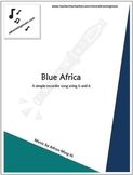 """""""Blue Africa"""" Recorder Music with Fun Background Track"""