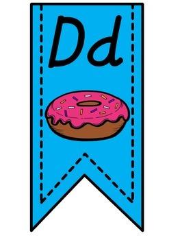 Blue Alphabet Banner