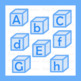 Blue Alphabet Blocks Clip Art Clipart