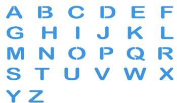 Blue Alphabet Clip Art