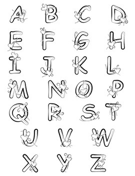 Blue Alphabet Letters Clip Art - Valentine's Day!