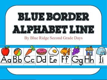Blue Alphabet Line