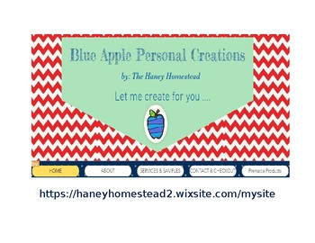 Blue Apple Personal Creations ~ by: The Haney Homestead