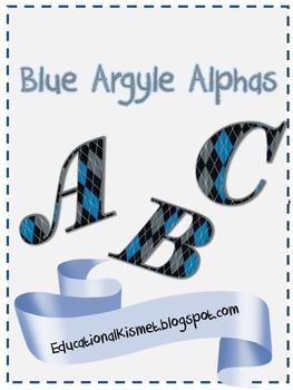 Blue Argyle Alpha