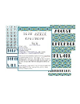 Blue Aztec Calendar Set