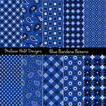 Blue Bandana Patterns