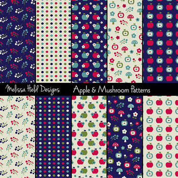 Autumn Patterns with Apples
