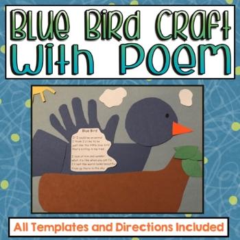 Blue Bird Craft with Poem