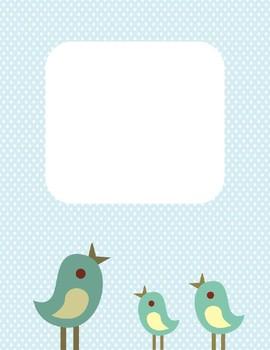 Blue Bird Dot Teacher Binder Planner Template
