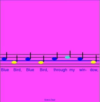 Blue Bird~Game song~ta, ti-ti~pattern~ Smartboard