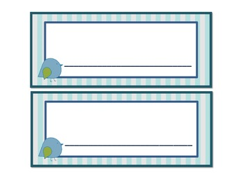 Blue Bird and Gingham Complete Set