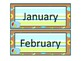 Blue Bird and Stripes Calendar Set with Name Plates and Cl