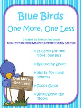 Blue Birds- One More, One Less- Freebie