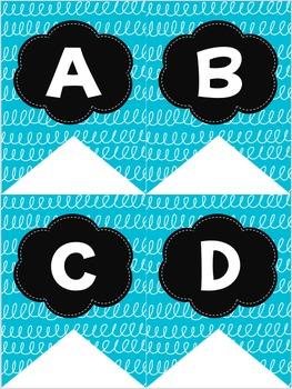 Blue & Black Swirl Decor Pack