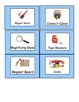 Blue Border Preschool Classroom Labels