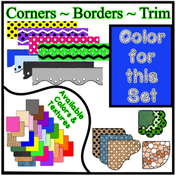 Blue Borders Trim Corners *Create Your Own Dream Classroom/Daycare*