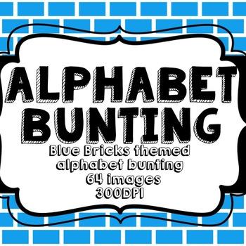 Blue Bricks Alphabet Bunting