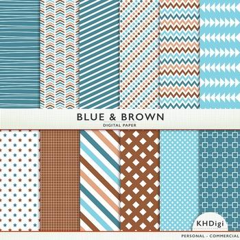 Blue & Brown Digital Paper