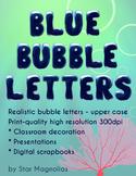 Bubble Letters Clip Art - Uppercase