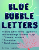 Bubble Letters Clip Art - Uppercase