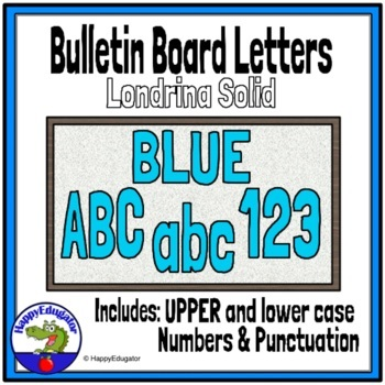 Bulletin Board Letters Blue
