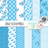 Blue Butterfly Digital Paper
