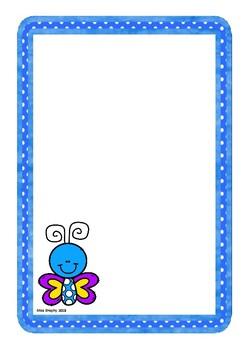 Blue Butterfly Worksheet