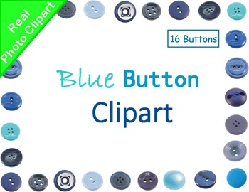 Buttons Blue Real Photo Clipart