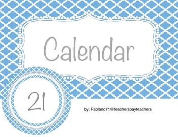 Blue Calendar Pieces