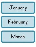 Blue Calendar cards