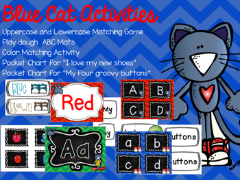 Blue Cat Activities and Pocket Chart