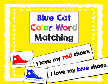 Blue Cat Color Words Matching