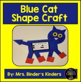 Blue Cat Shape Craft