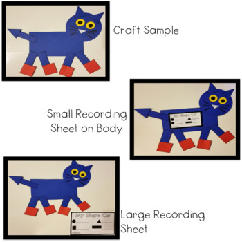 Blue Cat Shape Craft