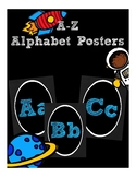 Blue Chalkboard Alphabet Posters (Classroom Decor) (Space