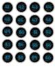 Blue Chalkboard Circles 0-100