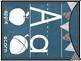Blue Chalkboard Classroom Alphabet Set