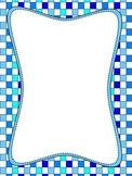 Blue Checker Border Paper