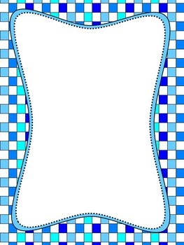 Blue Checker Border Paper