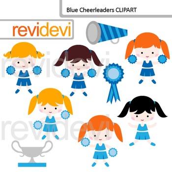 Blue Cheerleaders Clip art
