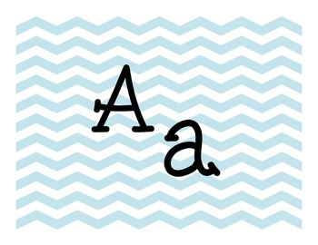 Blue Chevron Alphabet