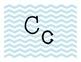 Blue Chevron Alphabet