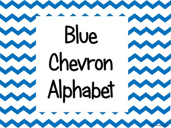 Blue Chevron Alphabet (large)